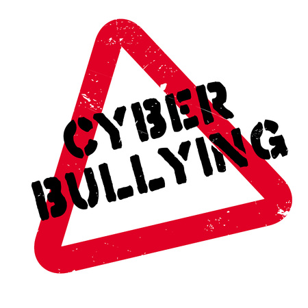 Cyber Bullying rubber stamp. Grunge design with dust scratches. Effects can be easily removed for a clean, crisp look. Color is easily changed. Иллюстрация