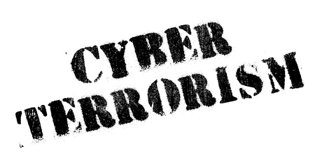 unauthorised: Cyber Terrorism rubber stamp. Grunge design with dust scratches. Effects can be easily removed for a clean, crisp look. Color is easily changed. Illustration