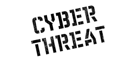 threat: Cyber Threat rubber stamp. Grunge design with dust scratches. Effects can be easily removed for a clean, crisp look. Color is easily changed.