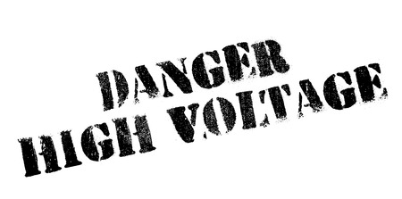 endangerment: Danger High Voltage rubber stamp. Grunge design with dust scratches. Effects can be easily removed for a clean, crisp look. Color is easily changed.