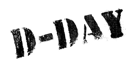 D-Day rubber stamp. Grunge design with dust scratches. Effects can be easily removed for a clean, crisp look. Color is easily changed. Illustration
