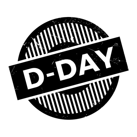 normandy: D-Day rubber stamp. Grunge design with dust scratches. Effects can be easily removed for a clean, crisp look. Color is easily changed. Illustration