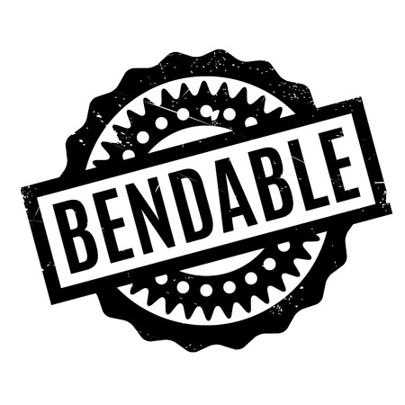 bendable: Bendable rubber stamp. Grunge design with dust scratches. Effects can be easily removed for a clean, crisp look. Color is easily changed. Illustration
