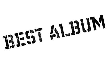 Best Album rubber stamp. Grunge design with dust scratches. Effects can be easily removed for a clean, crisp look. Color is easily changed. Illustration