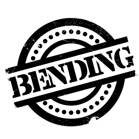 bendable: Bending rubber stamp. Grunge design with dust scratches. Effects can be easily removed for a clean, crisp look. Color is easily changed. Stock Photo
