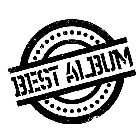 Best Album rubber stamp. Grunge design with dust scratches. Effects can be easily removed for a clean, crisp look. Color is easily changed. Stock Photo