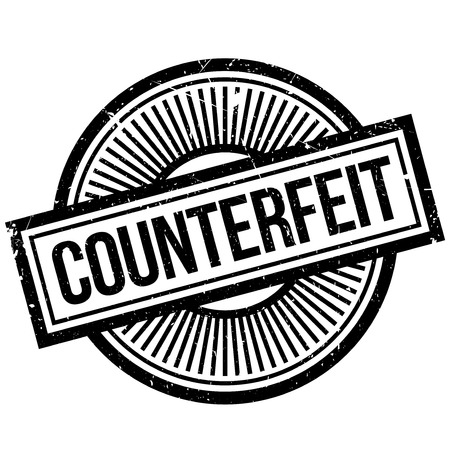 forgery: Counterfeit rubber stamp. Grunge design with dust scratches. Effects can be easily removed for a clean, crisp look. Color is easily changed. Illustration