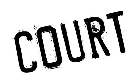 Court rubber stamp. Grunge design with dust scratches. Effects can be easily removed for a clean, crisp look. Color is easily changed. Ilustração