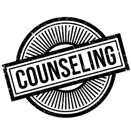 Counseling rubber stamp. Grunge design with dust scratches. Effects can be easily removed for a clean, crisp look. Color is easily changed. Stock Photo