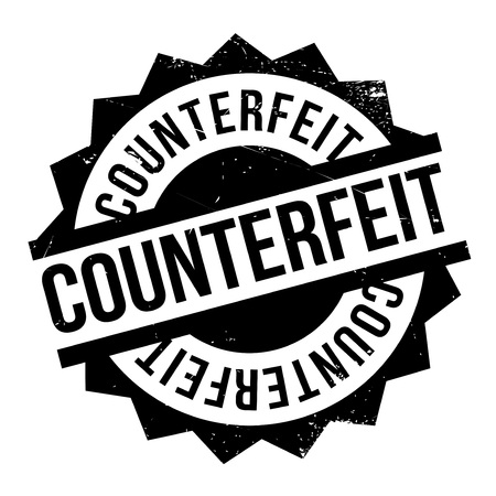 unauthorised: Counterfeit rubber stamp. Grunge design with dust scratches. Effects can be easily removed for a clean, crisp look. Color is easily changed. Stock Photo