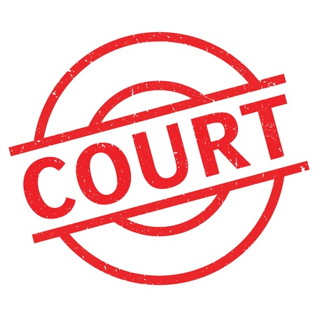 Court rubber stamp. Grunge design with dust scratches. Effects can be easily removed for a clean, crisp look. Color is easily changed. Illustration