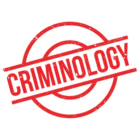 criminology: Criminology rubber stamp. Grunge design with dust scratches. Effects can be easily removed for a clean, crisp look. Color is easily changed.