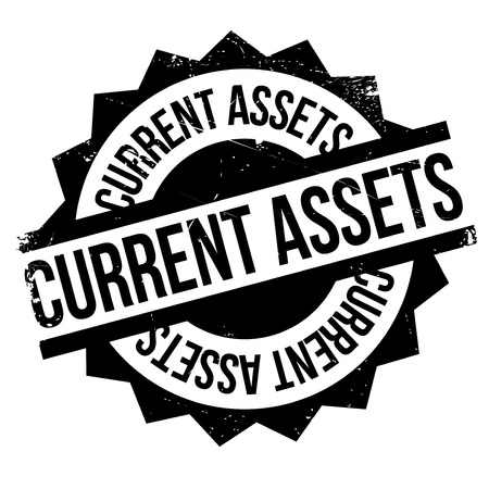 accountancy: Current Assets rubber stamp. Grunge design with dust scratches. Effects can be easily removed for a clean, crisp look. Color is easily changed.