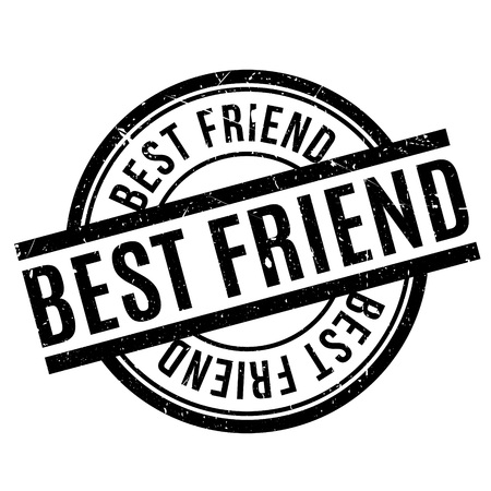 apt: Best Friend rubber stamp. Grunge design with dust scratches. Effects can be easily removed for a clean, crisp look. Color is easily changed.