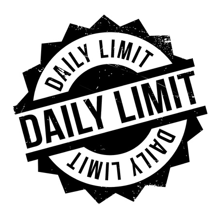 restraint: Daily Limit rubber stamp. Grunge design with dust scratches. Effects can be easily removed for a clean, crisp look. Color is easily changed.