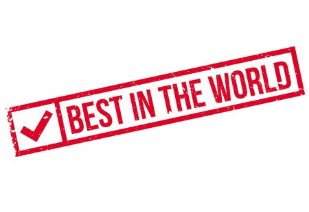 apt: Best In The World rubber stamp. Grunge design with dust scratches. Effects can be easily removed for a clean, crisp look. Color is easily changed.