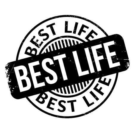 apt: Best Life rubber stamp. Grunge design with dust scratches. Effects can be easily removed for a clean, crisp look. Color is easily changed. Illustration