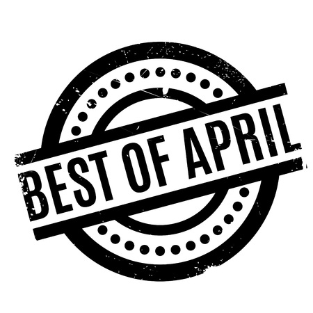 Best Of April rubber stamp Illustration