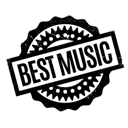 apt: Best Music rubber stamp