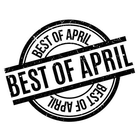 apt: Best Of April rubber stamp Illustration