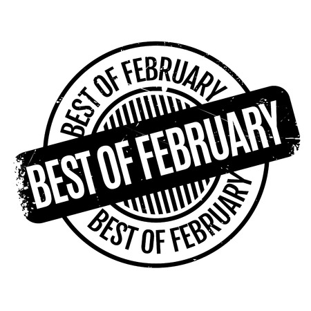 apt: Best Of February rubber stamp. Grunge design with dust scratches. Effects can be easily removed for a clean, crisp look. Color is easily changed.