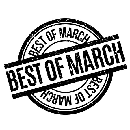 apt: Best Of March rubber stamp. Grunge design with dust scratches. Effects can be easily removed for a clean, crisp look. Color is easily changed.