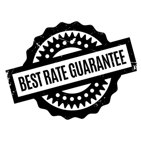 surety: Best Rate Guarantee rubber stamp. Grunge design with dust scratches. Effects can be easily removed for a clean, crisp look. Color is easily changed.