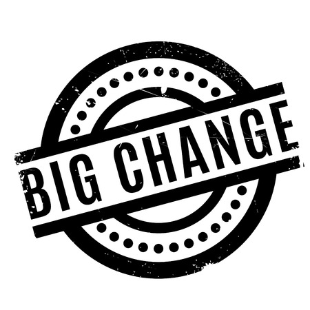 old times: Big Change rubber stamp. Grunge design with dust scratches. Effects can be easily removed for a clean, crisp look. Color is easily changed. Stock Photo