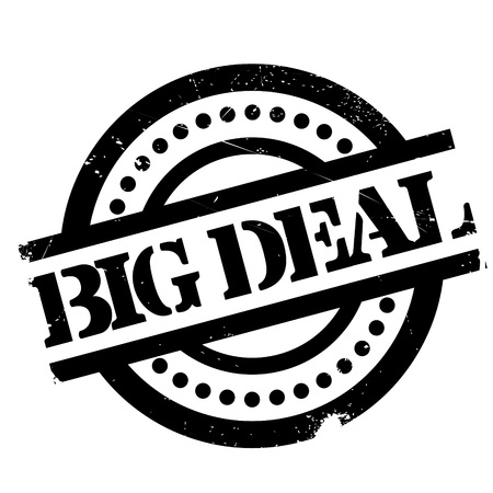grand sale sticker: Big Deal rubber stamp. Grunge design with dust scratches. Effects can be easily removed for a clean, crisp look. Color is easily changed.