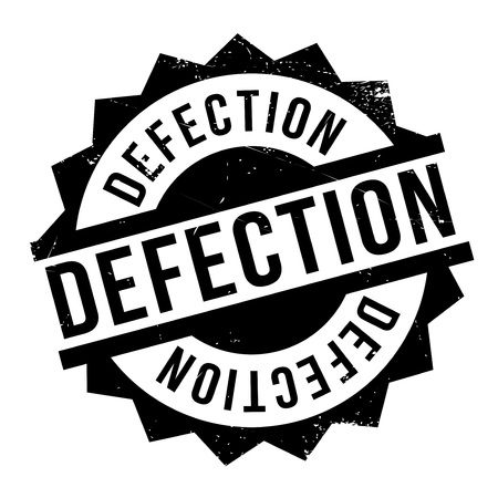 Defection rubber stamp. Grunge design with dust scratches. Effects can be easily removed for a clean, crisp look. Color is easily changed. Illustration
