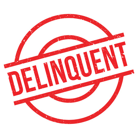 delinquent: Delinquent rubber stamp. Grunge design with dust scratches. Effects can be easily removed for a clean, crisp look. Color is easily changed.
