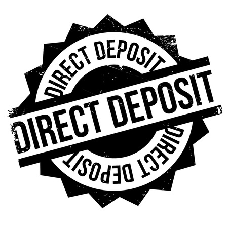 categorical: Direct Deposit rubber stamp. Grunge design with dust scratches. Effects can be easily removed for a clean, crisp look. Color is easily changed. Illustration