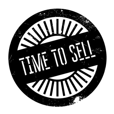spiel: Time to sell stamp. Grunge design with dust scratches. Effects can be easily removed for a clean, crisp look. Color is easily changed. Illustration