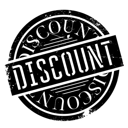 Discount rubber stamp. Grunge design with dust scratches. Effects can be easily removed for a clean, crisp look. Color is easily changed.