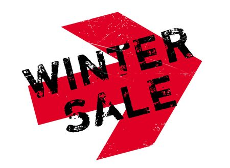 Winter sale stamp. Grunge design with dust scratches. Effects can be easily removed for a clean, crisp look. Color is easily changed.