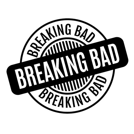 Breaking Bad rubber stamp. Grunge design with dust scratches. Effects can be easily removed for a clean, crisp look. Color is easily changed. Ilustrace