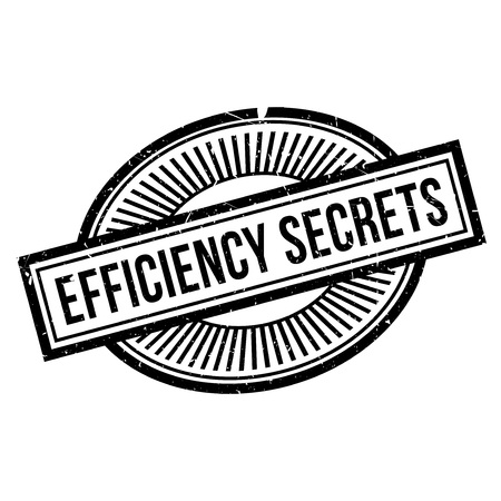 resourcefulness: Efficiency Secrets rubber stamp. Grunge design with dust scratches. Effects can be easily removed for a clean, crisp look. Color is easily changed.