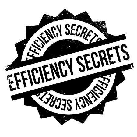 prowess: Efficiency Secrets rubber stamp. Grunge design with dust scratches. Effects can be easily removed for a clean, crisp look. Color is easily changed.
