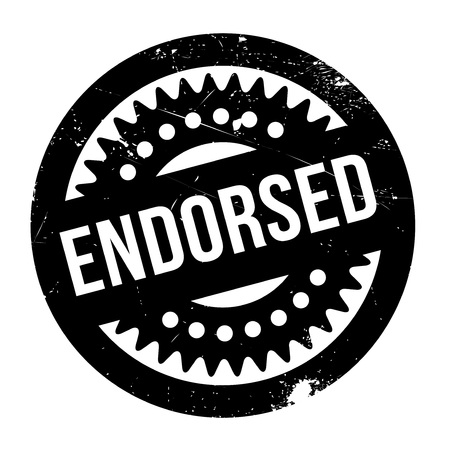 Endorsed rubber stamp. Grunge design with dust scratches. Effects can be easily removed for a clean, crisp look. Color is easily changed.