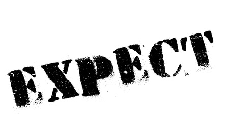 expect: Expect rubber stamp. Grunge design with dust scratches. Effects can be easily removed for a clean, crisp look. Color is easily changed.