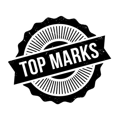 marvelous: Top Marks rubber stamp. Grunge design with dust scratches. Effects can be easily removed for a clean, crisp look. Color is easily changed. Illustration