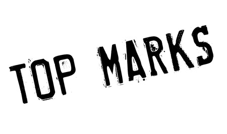 Top Marks rubber stamp. Grunge design with dust scratches. Effects can be easily removed for a clean, crisp look. Color is easily changed. Illustration