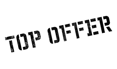 feeler: Top Offer rubber stamp. Grunge design with dust scratches. Effects can be easily removed for a clean, crisp look. Color is easily changed.