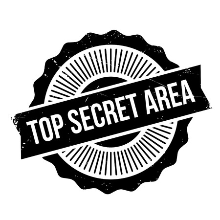 Top Secret Area rubber stamp. Grunge design with dust scratches. Effects can be easily removed for a clean, crisp look. Color is easily changed.
