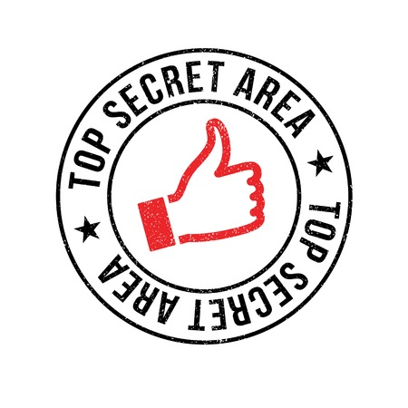 stealthy: Top Secret Area rubber stamp. Grunge design with dust scratches. Effects can be easily removed for a clean, crisp look. Color is easily changed.