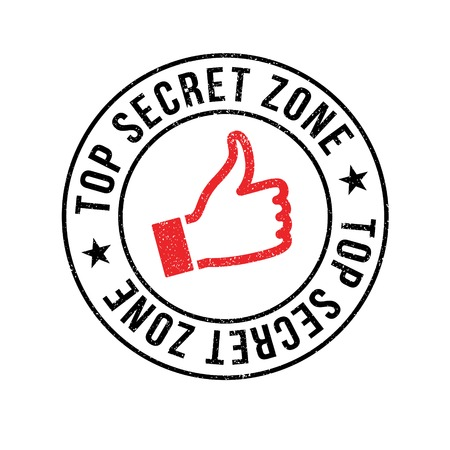 arcane: Top Secret Zone rubber stamp. Grunge design with dust scratches. Effects can be easily removed for a clean, crisp look. Color is easily changed.