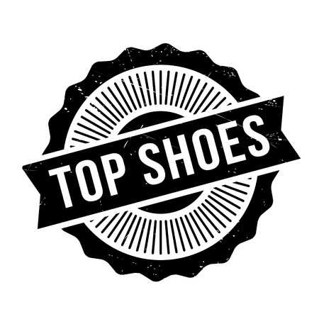 preeminent: Top Shoes rubber stamp. Grunge design with dust scratches. Effects can be easily removed for a clean, crisp look. Color is easily changed.