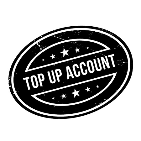 rundown: Top Up Account rubber stamp. Grunge design with dust scratches. Effects can be easily removed for a clean, crisp look. Color is easily changed.