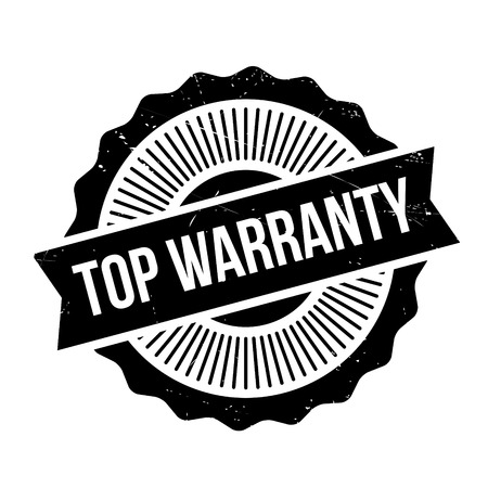 Top Warranty rubber stamp. Grunge design with dust scratches. Effects can be easily removed for a clean, crisp look. Color is easily changed.