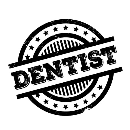 Dentist rubber stamp. Grunge design with dust scratches. Effects can be easily removed for a clean, crisp look. Color is easily changed. Illustration